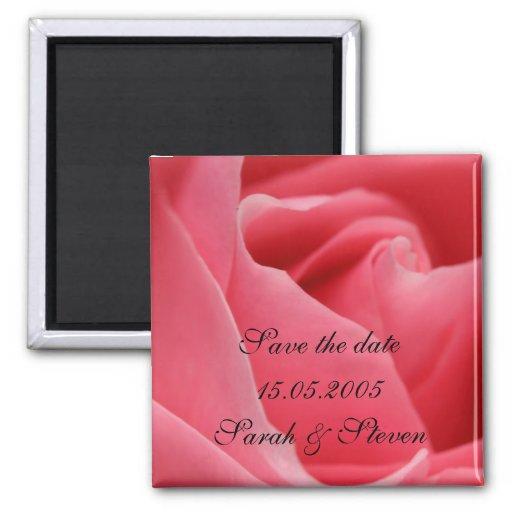 Reserva rosada romántica del rosa el imán de la fe