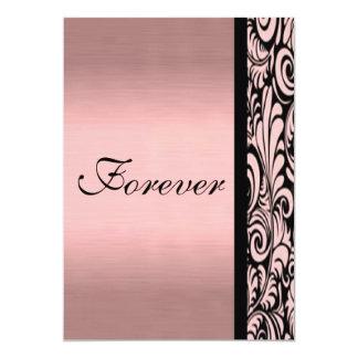 Reserva rosada y negra de Paisley la invitación de