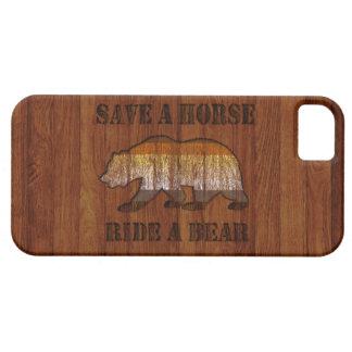 Reserva rústica curvada madera de la sensación un funda para iPhone SE/5/5s