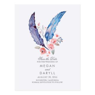 Reserva rústica de las plumas bohemias la fecha postales