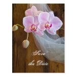 Reserva rústica del boda del país de la elegancia  postal
