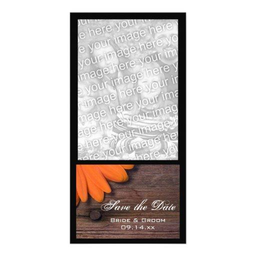 Reserva rústica del boda del país de la margarita  tarjetas fotograficas personalizadas