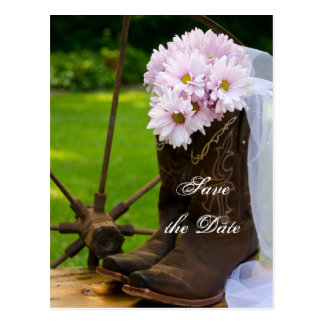 Reserva rústica del boda del país de las margarita tarjetas postales