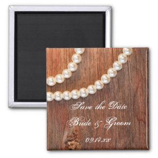 Reserva rústica del boda del país de las perlas el imán para frigorífico