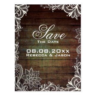reserva rústica del boda del país del cordón del tarjeta postal