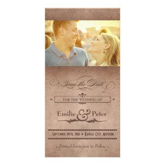 Reserva rústica del cacao del poster del vintage l tarjeta con foto personalizada