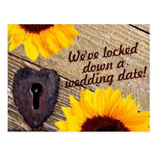 Reserva rústica del girasol la postal del boda de
