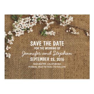 Reserva rústica del país de la arpillera la fecha tarjetas postales
