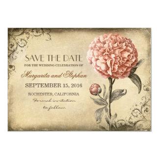 reserva rústica del vintage la tarjeta de fecha invitación 11,4 x 15,8 cm