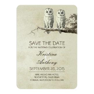 Reserva rústica del vintage que las tarjetas de invitación 11,4 x 15,8 cm
