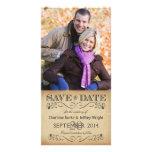 Reserva rústica la fecha que casa Photocards Tarjetas Con Fotos Personalizadas