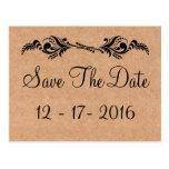 Reserva rústica la postal de la foto del boda de B