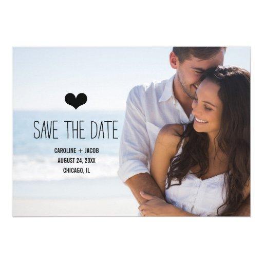 Reserva simple de la foto la fecha anuncio personalizado