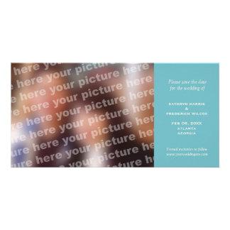 Reserva simple del boda del trullo la invitación d tarjeta fotográfica