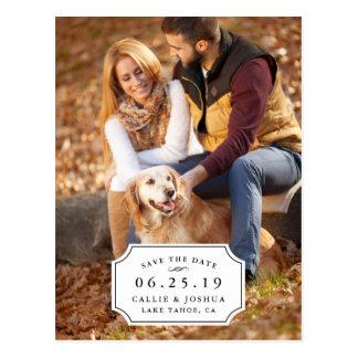 Reserva simple del encanto la fecha tarjetas postales