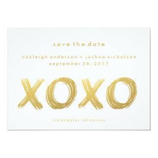 """Reserva simple elegante del movimiento el   XOXO Invitación 5"""" X 7"""""""