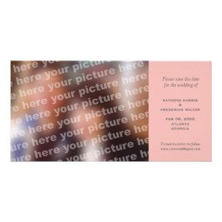 Reserva simple rosada del boda la invitación de la tarjeta fotografica