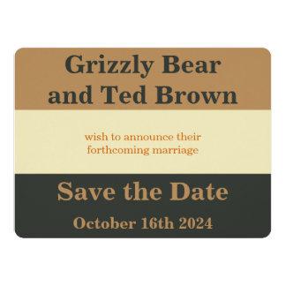 Reserva simplificada del orgullo del oso la invitación 16,5 x 22,2 cm