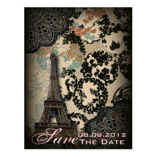 Reserva sofisticada del vintage del cordón de Parí Postal