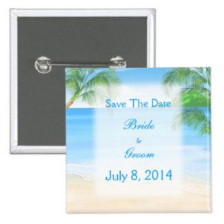 Reserva soñadora del boda de playa la fecha pins