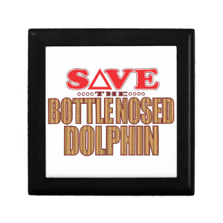 Reserva sospechada botella del delfín joyero cuadrado pequeño