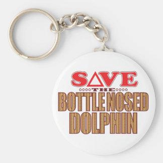 Reserva sospechada botella del delfín llavero redondo tipo pin