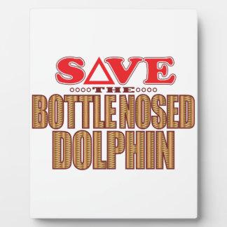 Reserva sospechada botella del delfín placas de plastico