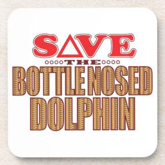 Reserva sospechada botella del delfín posavaso