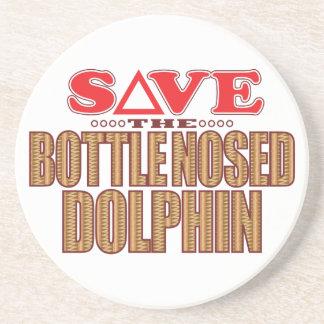 Reserva sospechada botella del delfín posavasos personalizados