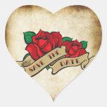 Reserva subió tatuaje del Rockabilly los sellos de Calcomanías De Corazones Personalizadas