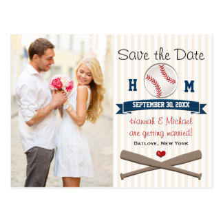 Reserva temática del béisbol con monograma la tarjetas postales