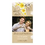Reserva tropical del amarillo del hibisco de la pl plantilla para tarjeta de foto