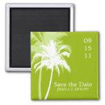 Reserva tropical del boda de las palmeras la fecha iman