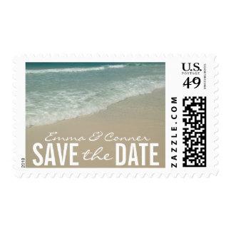 Reserva tropical del boda de playa el sello de la