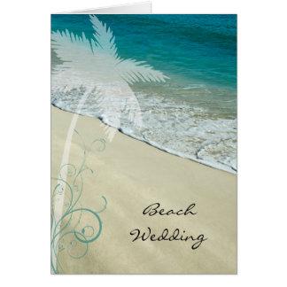 Reserva tropical del boda de playa la invitación tarjeta de felicitación