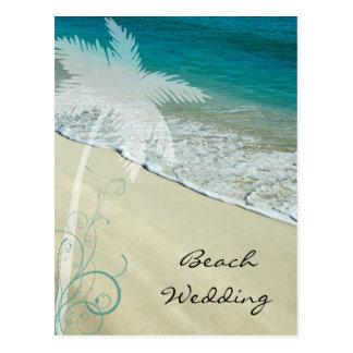 Reserva tropical del boda de playa la invitación tarjetas postales
