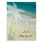 Reserva tropical del boda de playa la postal de la