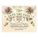 reserva tropical del boda del destino la fecha postal