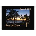 Reserva tropical del destino la tarjeta de fecha invitaciones personalizada