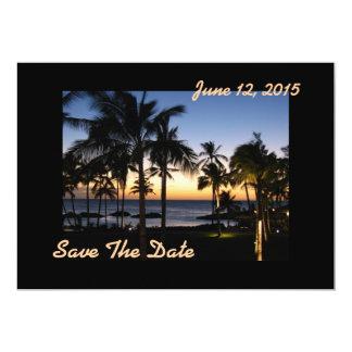 Reserva tropical del destino la tarjeta de fecha invitación 12,7 x 17,8 cm