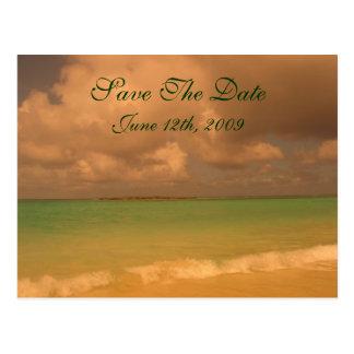 Reserva tropical del mar la postal de la fecha