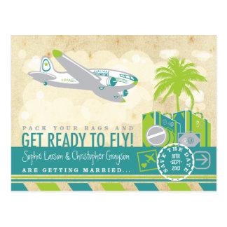 Reserva tropical del viaje de la línea aérea la postal