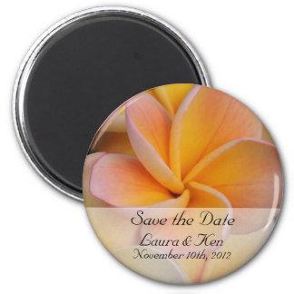 Reserva tropical el imán del boda de la fecha