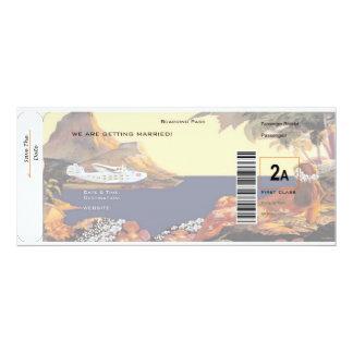 Reserva tropical la fecha - primera clase 2A Invitación 10,1 X 23,5 Cm
