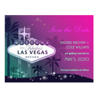 Reserva única del boda de la tira de Las Vegas la Tarjeta Postal