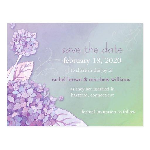 Reserva única del boda de los Hydrangeas las Tarjetas Postales