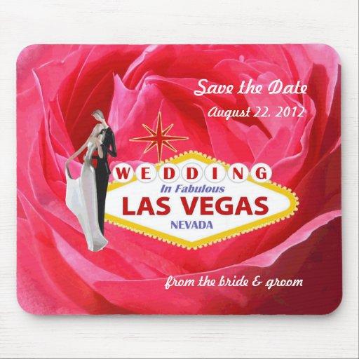 Reserva única la fecha Las Vegas que casa Mousepad
