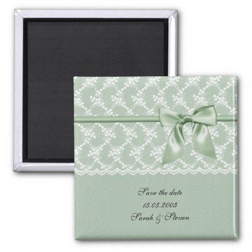 Reserva verde de lujo de la cinta del cordón el im imanes para frigoríficos