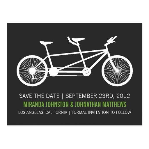 Reserva verde del texto de la bicicleta las postal
