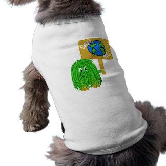 Reserva verde yo playera sin mangas para perro